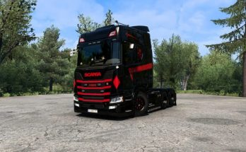 Scania R Black and Red v1.0