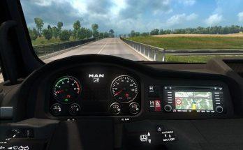 SCS MAN truck custom dash by Piva v9 1.40