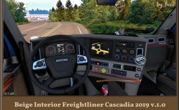 BEIGE INTERIOR FOR FREIGHTLINER CASCADIA 2019 V1.0