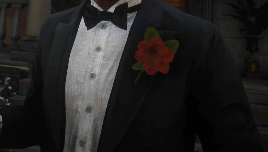 Coat boutonniere flower (Three Colors)