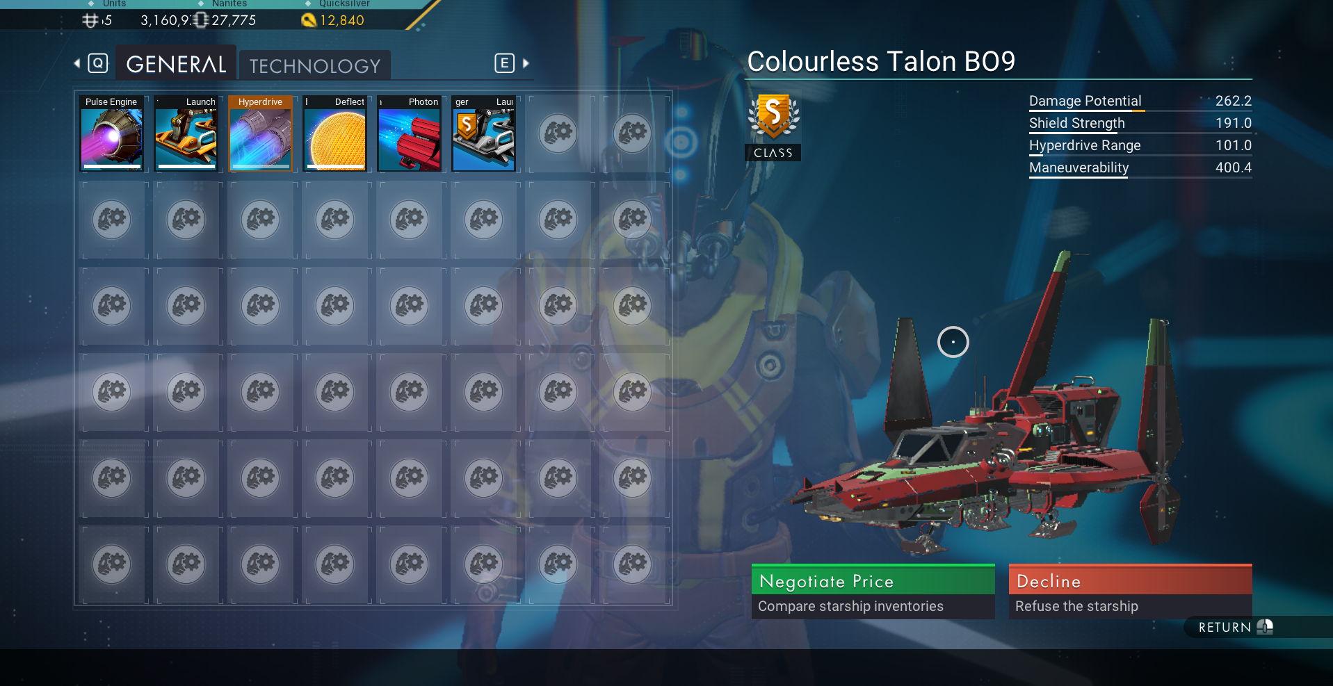 Everything S Class and Max Inventory