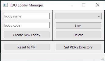 RDO Lobby Manager
