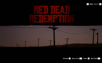 Red Dead Redemption Landing Page