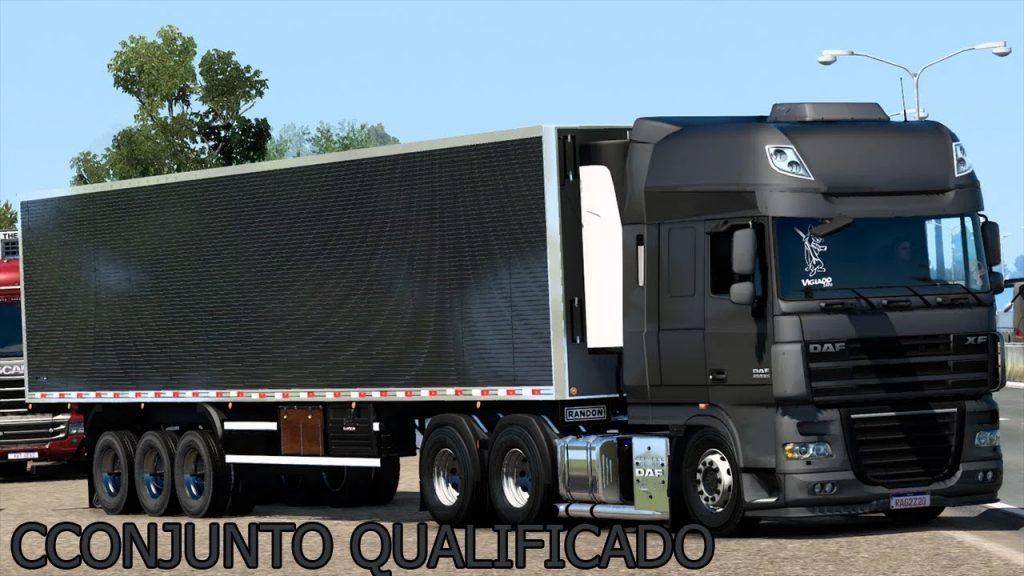 DAF XF 105 BR EDIT + REBOQUE BAU QUALIFICADO - 1.40