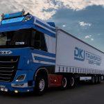 DAF XF Euro 6 W.de Zeeuw + DKJ Transport Combo Skin v1.0