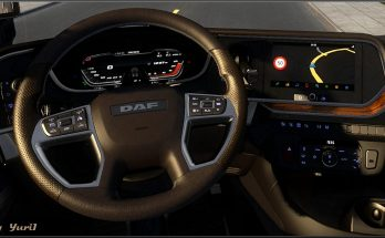Dashboard light Blue for DAF 2021 XG 1.40.x