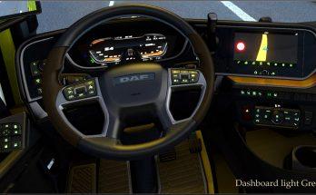 Dashboard light Green for DAF 2021 XG v0.8