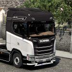 Scania S Skin Black White 1.40