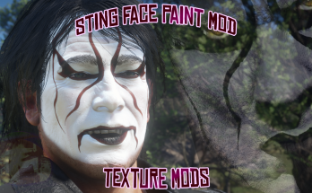Sting (WRESTLER) Face Paint For Arthur-EXTRA CLEAN SHAVEN ONLY