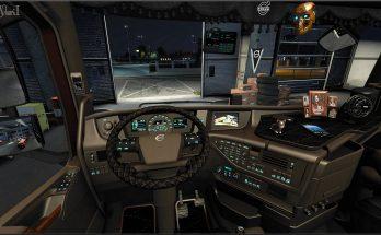 Brown Interior for Volvo FH16 2012 v0.8
