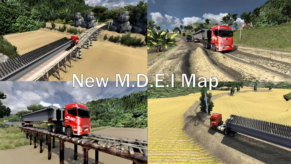 New M.D.E.I Map Save Game Profile ETS2 1.30 to 1.40