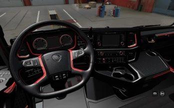 Scania R&S Red interior v1.0