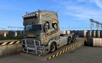 Scania RJL Topline 8 Ball Logistics Skin v1.0