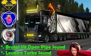 V8 Open pipe Brutal Sound Mod v1.0