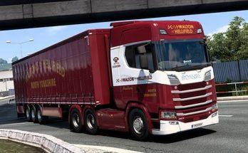 Waltons of Hellifield Scania S & Trailer Paint Job v1.0